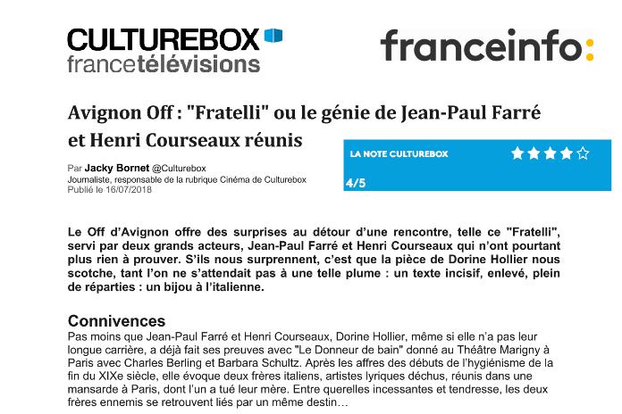 Fratelli - Culturebox