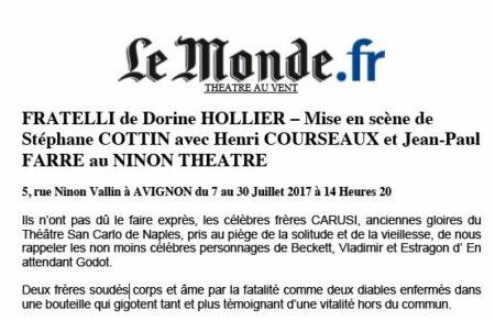Fratelli - Le Monde