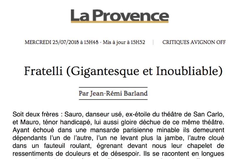Fratelli - La Provence